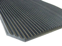4.5mm Rubber flooring ribbed, fine