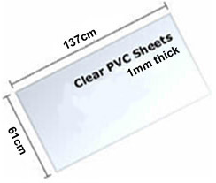 clear pvc window sheet, available in o.75mm or 1.0mm thick. For use in Soft top convertibles